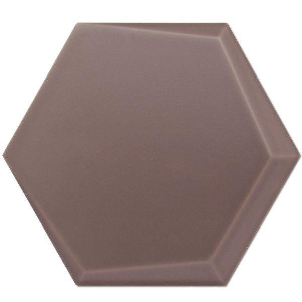 Kolekcja Hexagono Cuna - płytki ścienne Cuna Chocolate Mate 17x15