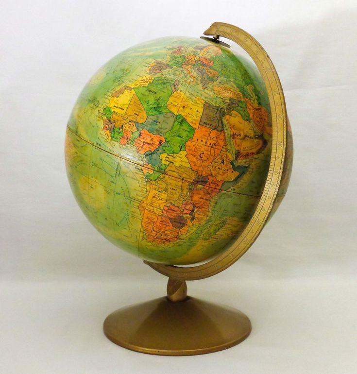 VINTAGE 12u0027u0027 REPOGLE GLOBE WORLD NATION SERIES