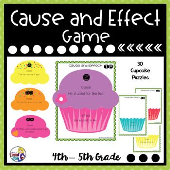 This Cause and Effect Game is an engaging way to practice an important reading comprehension strategy. This game makes a great reading center where students solve puzzles to reinforce cause and effect concepts. It can also be used for one on one work, for