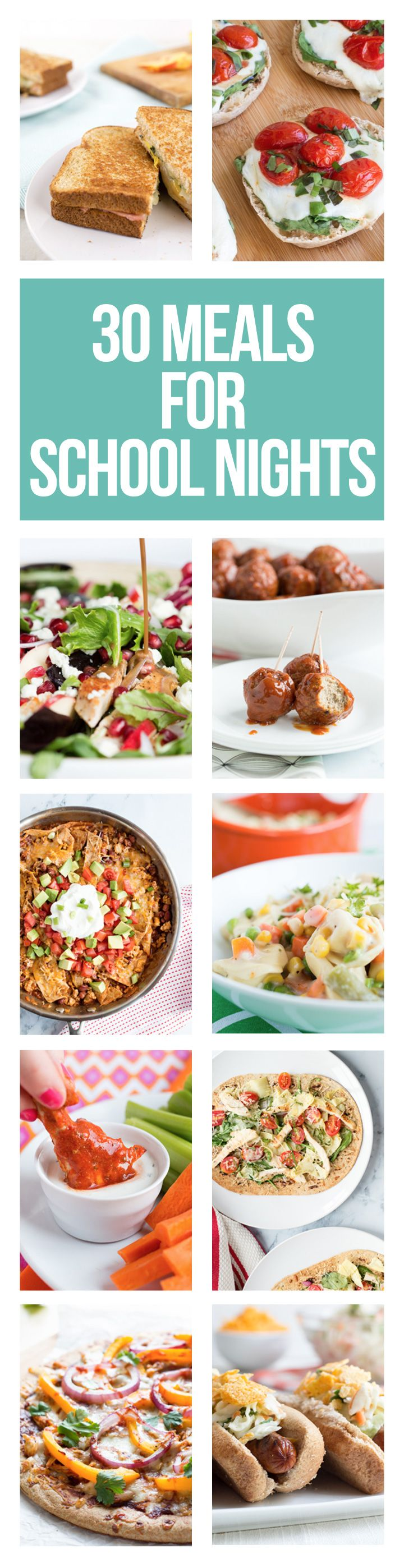Quick meals for busy school nights.