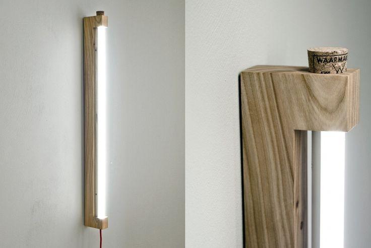 Ninebyfour Minimalist Wooden LED Tube Lights by Waarmakers - Homeli