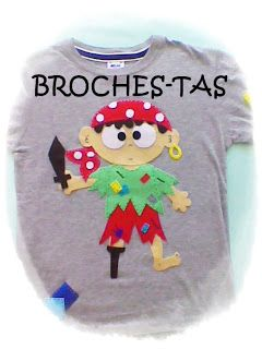 BROCHES-TAS: CAMISETA NIÑO