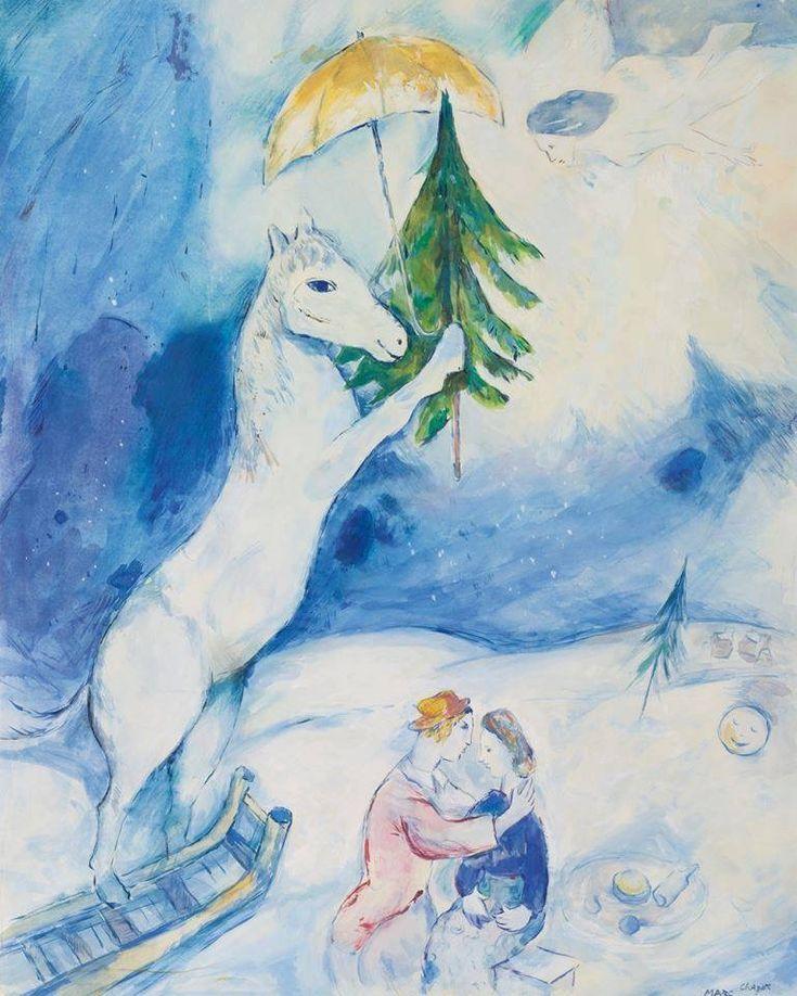 """Marc Chagall. """"Fantasie de Noël"""" 1937"""