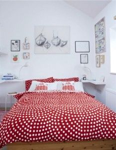 Red Polka Dots Duvert Cover For The Bedrooms