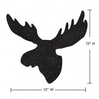 moose silhouette | Wake Up Frankie - Moose Head Wall Decal - Black : Teen Bedding, Pink ...