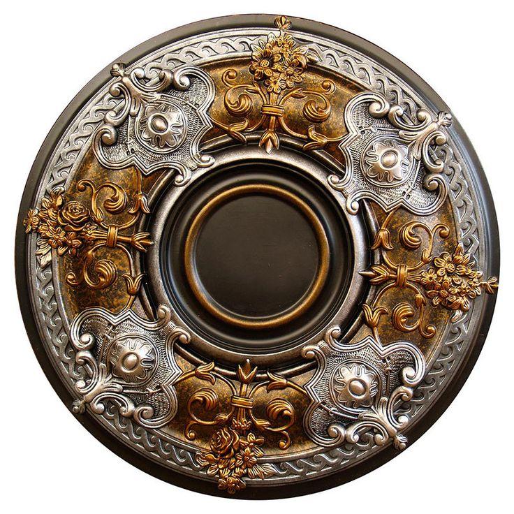Decorative Ceiling Tiles, Inc. Store - Dark Platinum - FAD Hand Painted Ceiling Medallion -