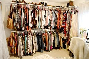 craft room turned dressing closet room on a budget, bedroom ideas, closet, organizing, repurposing upcycling