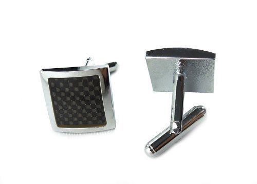 Classic Brass, Steel-plated Cufflinks with Black Enamel - Cuff Links for Men - Chinese New Year Party Gift AMC. $11.97. Easy to fasten, comfortable to wear. Specially crafted and detailed design. Swivel bar with frictional resistance to lock it in place while being worn. Classier and more sophisticated than buttons. Compliments dress shirts and professional suits