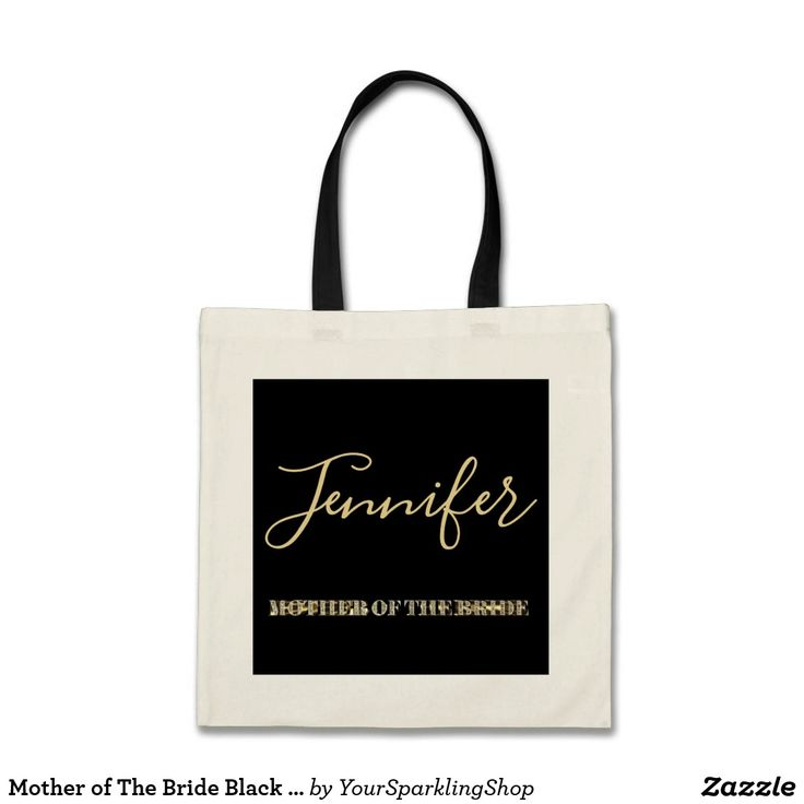 Mother of The Bride Black Gold Glitter Typography #motherofthebride #wedding #mother #giftideas