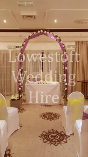 Lowestoft Wedding Hire is a Wedding Supplier of Flowers, Table Decorations, Venue Decorations, Favours & Gifts, Wedding Coordinator. Are you planning your Big Day and looking for wedding items, products or services? Why not head over to MyWeddingContacts.co.uk and take a look at Lowestoft Wedding Hire's profile page to see what they have to offer. Helping make your wedding day into a truly Amazing Day. Oh, and good luck and best wishes with your Wedding.