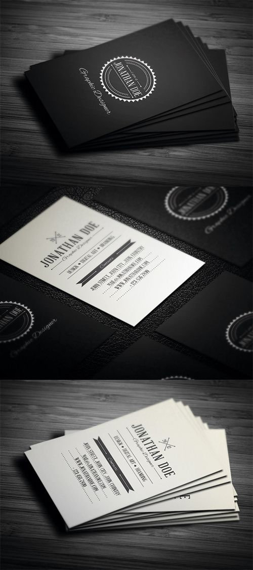 Retro Business cards. #business #card #design