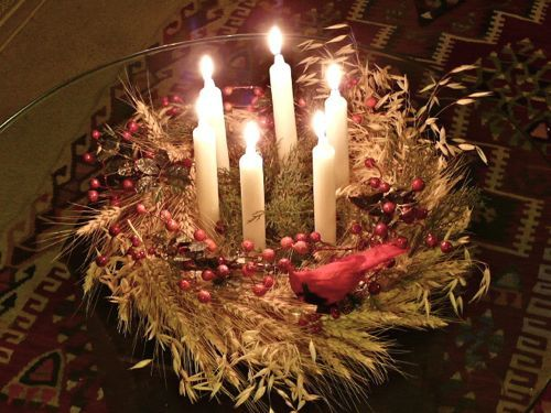 Saint Lucia Day 13 December.  A wreath idea to celebrate her life.