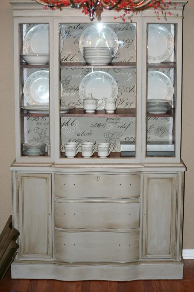 refinishing hutches | it so I decided to buy a china hutch off of craigslist and refinish ...