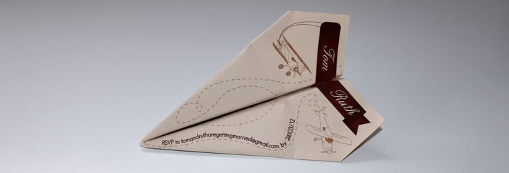 The Illustrated Design on Top of The Paper Plane Invite