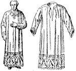 CAMICE Veste bianca lunga fino ai piedi, di solito fermata ai fianchi dai cingolo. La si mette per la S. Messa e per le celebrazioni liturgiche più importanti