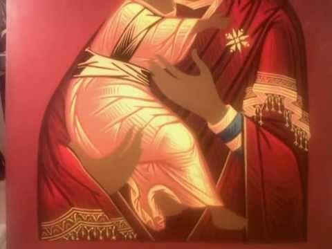 Proceso de pintura deI icono de la Virgen de Vladimir. Febrero - Junio 2...