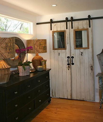 96 best images about barn doors on pinterest - Interior sliding barn doors with windows ...