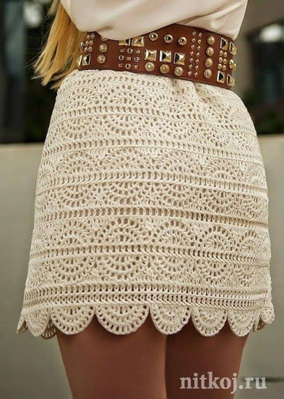 Crochet A-line Mini Skirt Free Pattern- Crochet Women Skirt Free Patterns