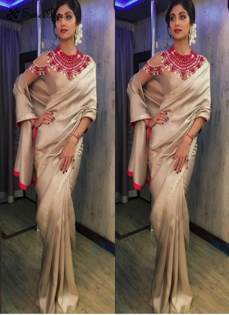 Give in to the exotic confluence of today and tomorrow in this beautiful attire. A superbBeige Colour Embroidered Designer Sareewill make you look highly stylish and graceful. It has becom...