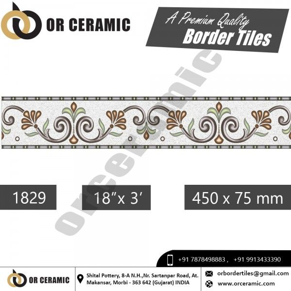 Or Ceramic Morbi 1829 Digital Border Tiles Border Tiles Tile Manufacturers Tiles