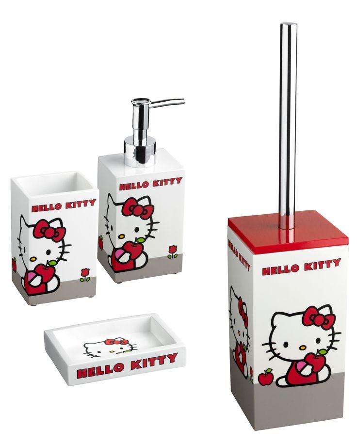 #Cipì #Hello #Kitty set completo da 4 pezzi | #Resine #moderno | su #casaebagno.it a 59 Euro/pz | #accessori #bagno #complementi #oggettistica #gadget