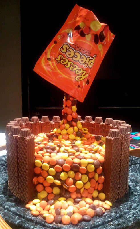 Reese's Anti-Gravity Cake!
