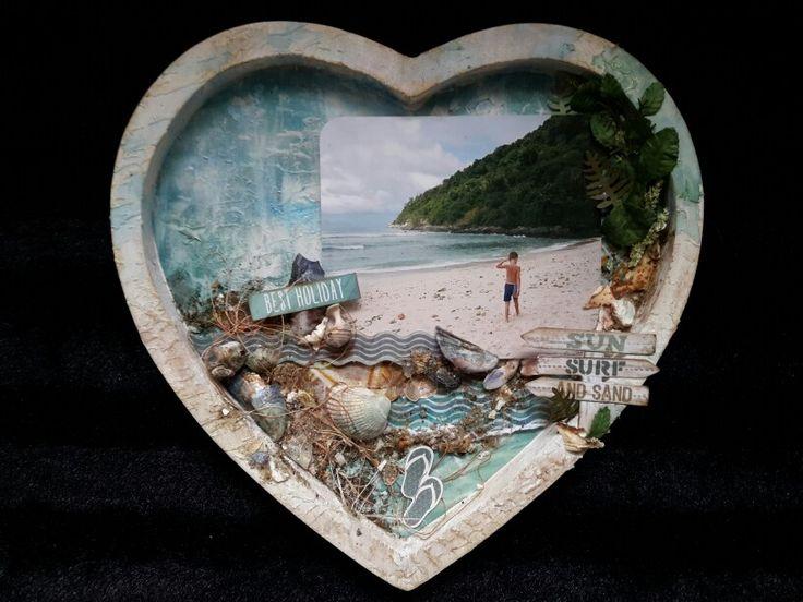 Heart frame mixed media