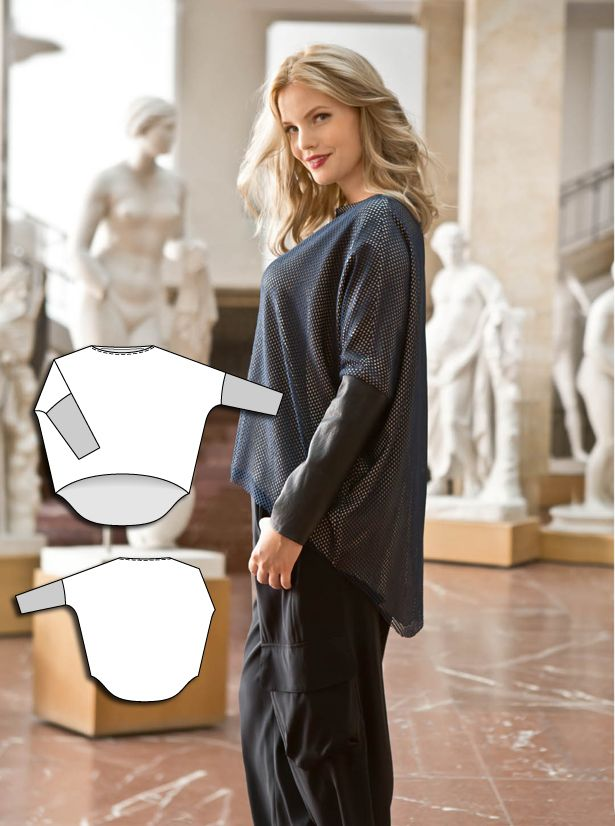 T-shirtBlouse Burda plus 2/15 137 Knit for wrists