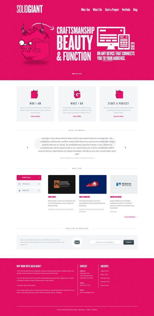Solid Giant Web Design - Best website, web design inspiration showcase
