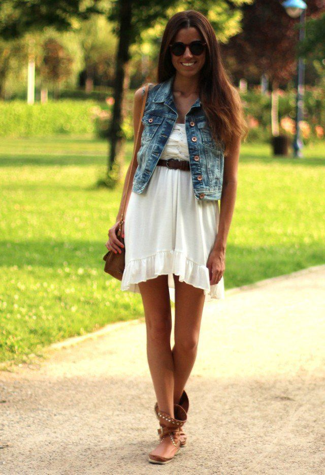 denim-vest What to Wear with a Vest – 20 Best Vest Outfit Ideas for Women