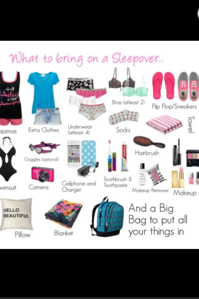 What you need at a Sleepover