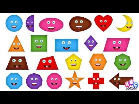 Learn Shapes | Teach Babies & Toddlers Shapes in English | Kids Nursery Songs - YouTube