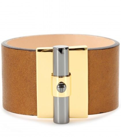 #ReedKrakoff T BAR OVAL LEATHER CUFF