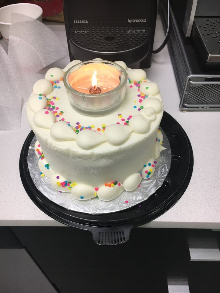 Nothing better than afternoon Mishas Cupcake birthday cake (which I missed today!) with a very questionable candle… #Miami #officelife #sugar