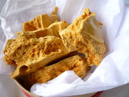 You might call this honeycomb... in NZ it's called Hokey Pokey and features in the popular Crunchie Bar (or the Violet Crumble in Australia)