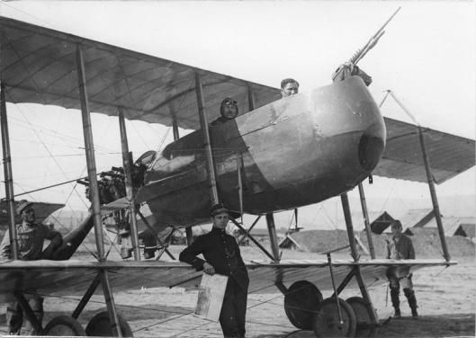 A Romanian Farman HF.20 (french made) reconnaissance aircraft. Romania in WWI.