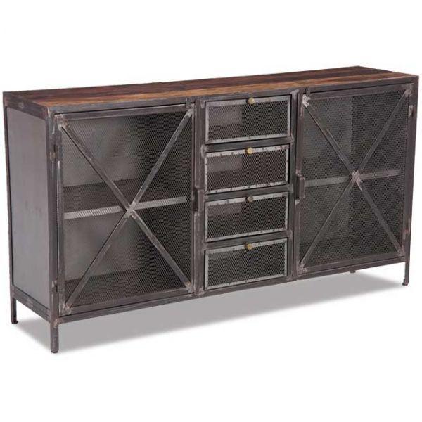 Vintage Industrial Sideboard
