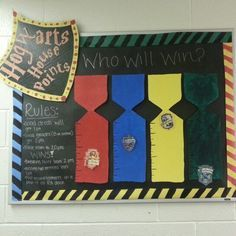 harry potter bulletin board- house points                                                                                                                                                     More