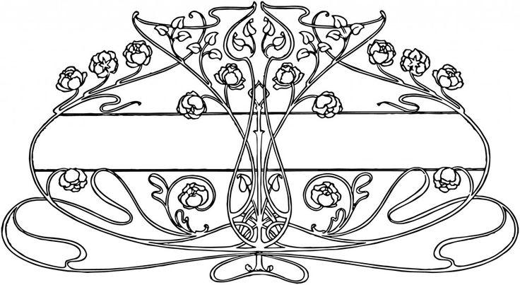 Free Vintage Image – Art Nouveau Floral Design