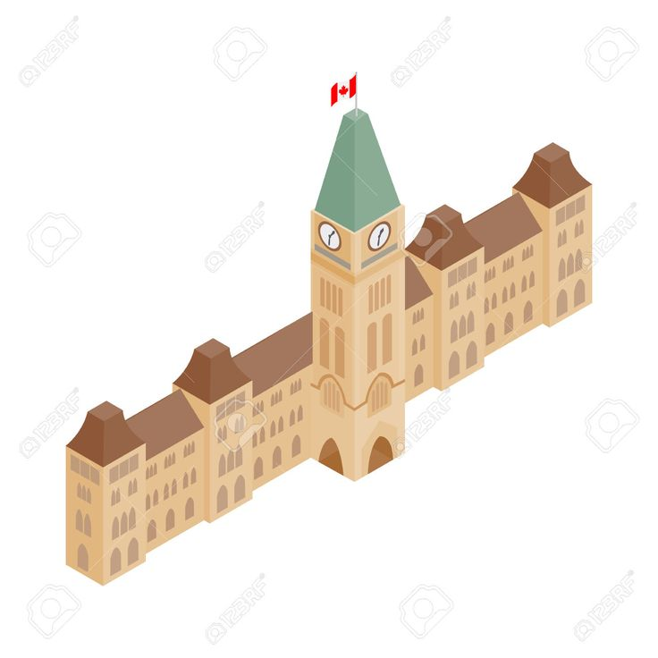 Parliament Buildings, Ottawa Icon In Isometric 3d Style On A.. Royalty Free Cliparts, Vectors, And Stock Illustration. Image 52702652.