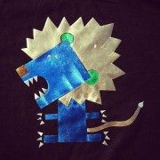 T-shirt design - Blue lion