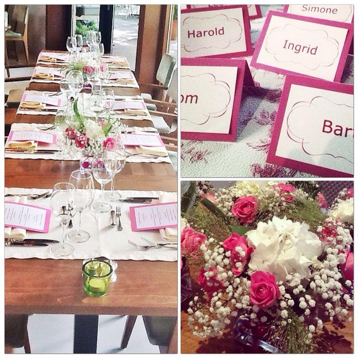 Table details wedding @ Restaurant de Boschvijver