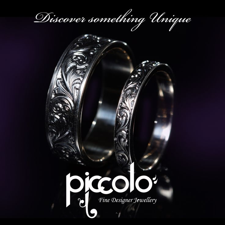 "Wilsa | ""The smaller the detail, the greater the value"" White Gold Wedding Rings with intricate hand-engraving For any enquiries send us an email 