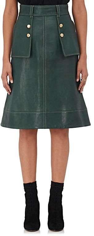 Maison Mayle Women's Leather A-Line Skirt