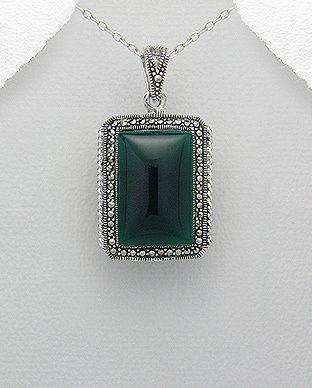 silver vogue - Elegant marcasite pendant, $25.00 (http://www.silvervogue.com.au/elegant-marcasite-pendant/)