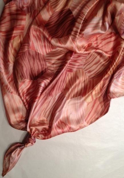 Dell Stewart - 'Oregon Hexagon' - digital print silk satin; 130cm x 130cm