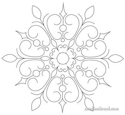 Snowflake Hand Embroidery Pattern www.SeedingAbundance.com http://www.marjanb.myShaklee.com