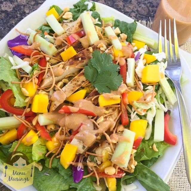 Thai Mango Chicken Salad_ menumusings.com