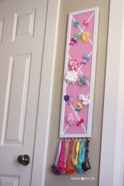 This house is in need of one of these!! DIY bow/accesory holder tutorial...
