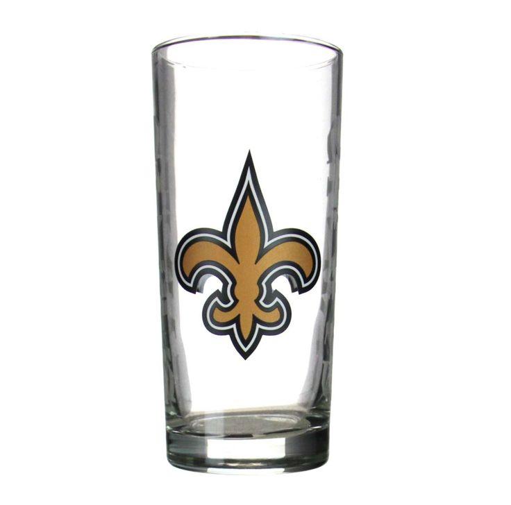 NFL Saints Glass Tall